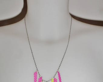 Stems neon fashion woman necklace