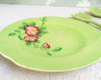 "Leaf Shaped  Dessert Plate ""Wild Rose"" Carlton Ware, Australian Design, H"