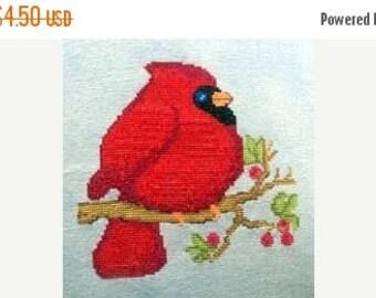 25% OFF SALE SALE Cm Designs Mr Redbird Cross Stitch Pattern