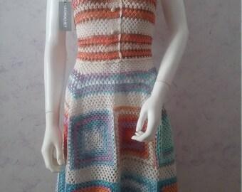 Crochet  summer dress, beach lace dress, womens dress crochet lace dress - made to order