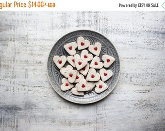 CHRISMAS IN JULY 20-26.07 Rustic red heart magnets cottage chic off white wedding favors bridal shower birthday party favors baby shower boh