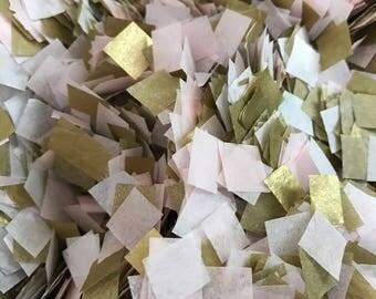 Vintage Wedding Confetti / Bio-degradable Confetti / Pink White Gold Confetti / Biodegradable Confetti / Rustic Wedding Decor