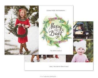 HD4 :. Merry Christmas Card Template | Christmas Miracles