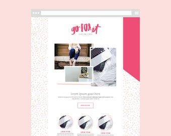 Squarespace DIY WEBSITE TEMPLATE with Graphics: The Bold Babe