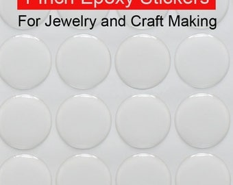 """300 pc Epoxy Dots- 25mm 1"""" Epoxy Stickers for bottle caps- Hairbow center-resin- US Seller"""