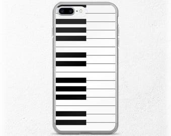 Pianist iPhone Case, Piano Keys, Music Lover iPhone 7, Musicians iPhone 7 Plus, Music Teacher Gift, Girlfriend or Boyfriend