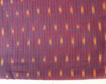 Indigo Blue and White Yarn Dyed Close Knit Cotton Ikat  Fabric Sold by Yard