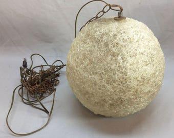 Goop Ball Plastic Resin  Lamp 1960's Retro Light Hanging
