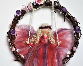 Needle felted wool fairy#