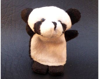 Small plush panda x 1 animal finger puppets