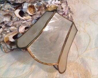 Capiz shell small clip lampshade lamp shape lighting accessory bohemian boho hippie cottage retro chic beach home decor