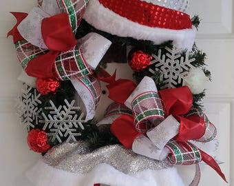 Sassy Mrs. Clause Wreath