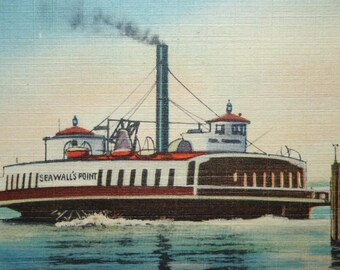 Norfolk - Newport News, Virginia Beach, Ferry Seawells Point, 1945, Steam Boat