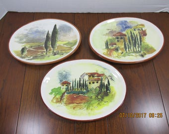 Williams Sonoma Tuscany Countryside Oval Plates ~ dipping oil