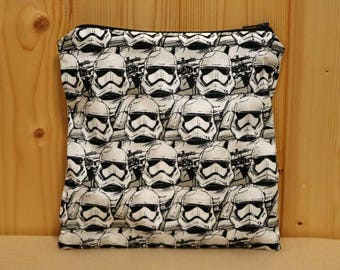 One Sandwich Bag, Reusable Lunch Bags, Waste-Free Lunch, Machine Washable, Storm Trooper, Star Wars, item #SS154