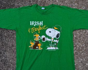 Super Nice Vintage 80's Peanuts / Irish & Perfect T-Shirt