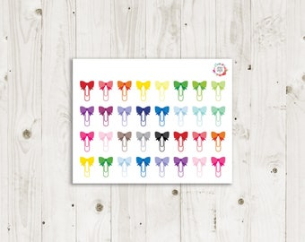 Bow Paper Clip Stickers  - ECLP Sticker
