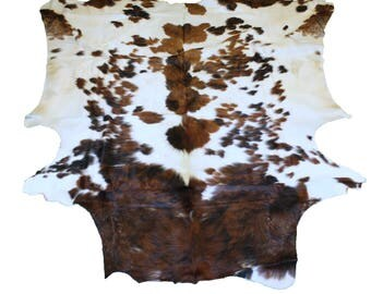 Glacier Wear Cow Hide Leather Hair-On Rug #012