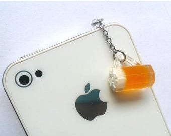 ON SALE Beer Mug Phone Charm, Dust Plug or Cell Phone Strap, For iPhone or iPod, Cute :D