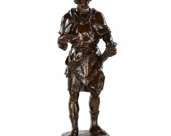 Imagier, 15th  Siécle, Bronze Sculpture after Model by Emile Picault (French, 1839-1915)
