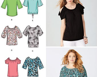 KNIT TOPS with 6 VARIATIONS Pattern by Simplicity 1805 Size xxs-xxl
