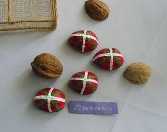 Regions: Basque flag-magnet