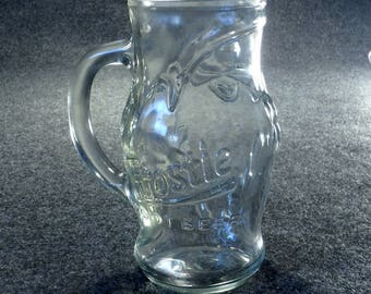 Vintage Frostie Root Beer Glass Mug with Raised Elf and Lettering - Soda Pop Beverage Ware
