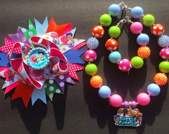 Bubble Guppies Chunky Necklace Set