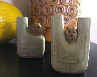 Mid Century Modern counterpoint San Francisco pottery Owl Vase