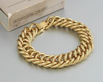 Vintage AVON 14K Gold Filled Cobra Bracelet 1983 w Original