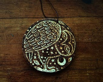 Black Owl-An original Wood Burning picture, decoration