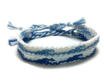 Wave friendship bracelets, string friendship, gifts for friends, best friend gift, bracelet under 20