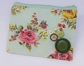 Vintage French Fabric Purse