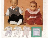 A One-Piece, Snap Crotch Long Sleeve Romper Sewing Pattern for Infants: Uncut - Sizes S-M-L-XL, Weight 13 to 24 lbs. ~ McCall's 7417