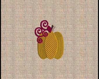 Pumpkin Embroidery Design Mini Pumpkin Embroidery Design Fall Embroidery Design Thanksgiving Embroidery Design 6 sizes