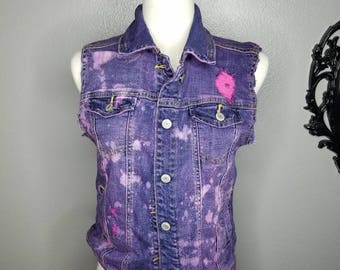 Women's medium bleached denim jacket