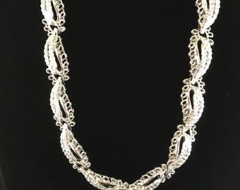Vintage Silver Tone Choker Necklace