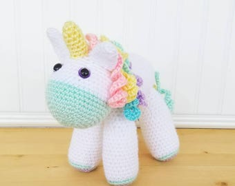 Crochet Unicorn Plush - Large Unicorn Stuffed Animal - Toddler Gift - Baby Shower Gift - Baby Room Decor - Toddler Toy - Baby Girl Gift