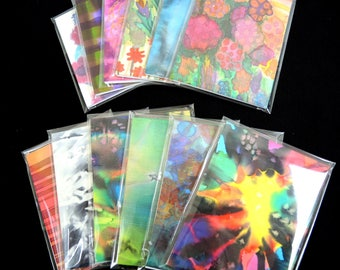 NEW Painted silk-covered notebooks, A5 lined small, every one One Of A Kind unique- art gift -ready to ship