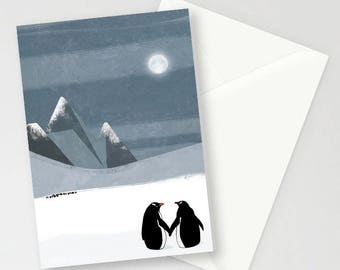 Home At Last, Penguins A6 Greetings card