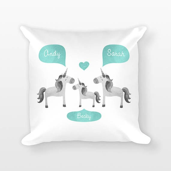 Unicorn Nursery Pillow, Personalized Baby Gift, Baby Shower Gift, Nursery Decor, Pillow for Kids Room Decor, Animal Nursery Throw Pillow