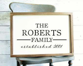 Family Name Sign   Personalized Wood Sign