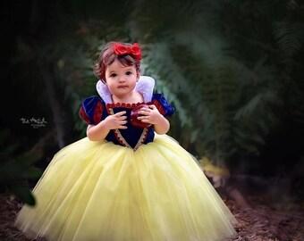 Snow White Costume Princess Gown Tutu Dress