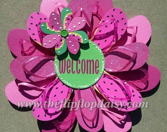 Adorable Watermelon Welcome Wreath Beach Patio Door Decor