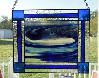 Blue Swirl stain glass