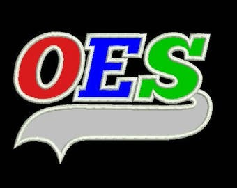 OES  (Order of the Eastern Star) applique embroidery design