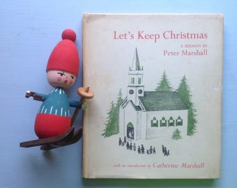 Let's Keep Christmas, 1953 First Edition, Barbara Cooney Illustrations, Red and Green, Scarce, Collectible, Clean Crisp Condition, Gift