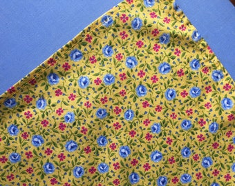 Bright Yellow Calico Headscarf, Little Girl, 1960s, Cotton, Berkshire Label, Mint Condition
