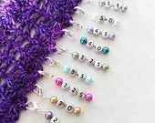 Never forget your hook size! Pearl elegance. Sets + individual stitch markers/progress keepers for various hook sizes.