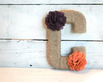 Yarn Wrapped Letters | Jute Wrapped Letters | Wreath Letters | Custom Wrapped Letters | Clemson Wrapped Letters | Collegiate Letters
